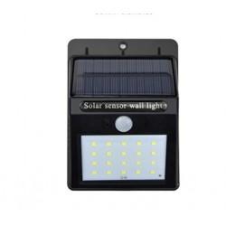 Foco solar con batería y sensor de presencia.