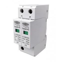 Protector de sobretensiones de 600V CC 20-40KA