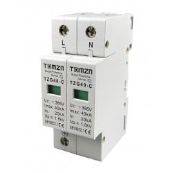 Protector de sobretensiones transitorias corriente alterna.