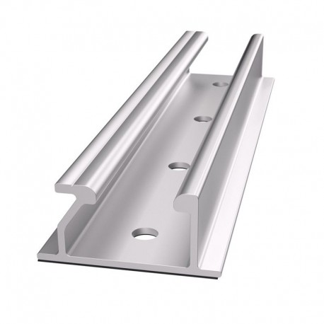 Soporte/Anclaje Aluminio Anodizado chapa plana150 mm.