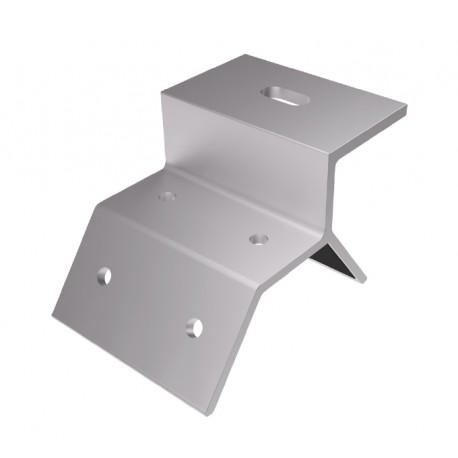Soporte Chapa Trapezoidal para atornillar a los soportes de aluminio.