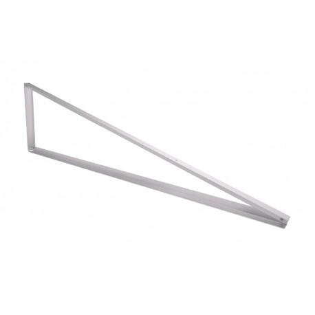 Triangulo Aluminio 45º 1300x1300x1002 mm. para elevación de soportes de paneles solares.