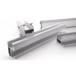 Soporte/Anclaje Aluminio. Guía Pro Estandar. Anodizado 2100 mm.