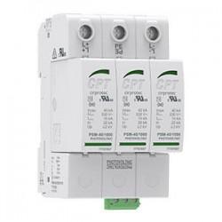 Protector contra sobretensiones transitorias tipo II de 3 polos de 40 KA y 1000 Voltios para Fotovoltaica.