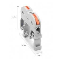 Empalmador de cables para carril DIN