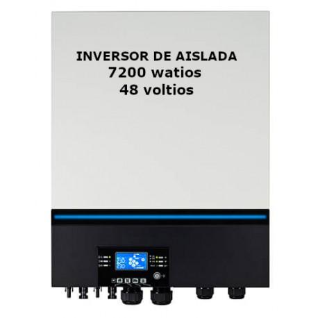Inversor de aislada 7200W/48 V. Funciona con y sin baterías.