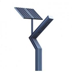 Farola Solar Moderna 60W 24V. Para auto iluminación  nocturna.