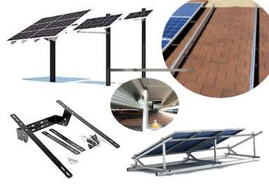 Soportes y estructuras para paneles.